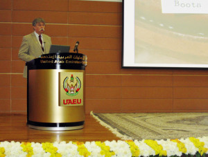 Skip Palenik lecture to the Abu Dhabi Police Laboratory
